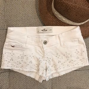 Like New • Hollister • White Jean Shorts
